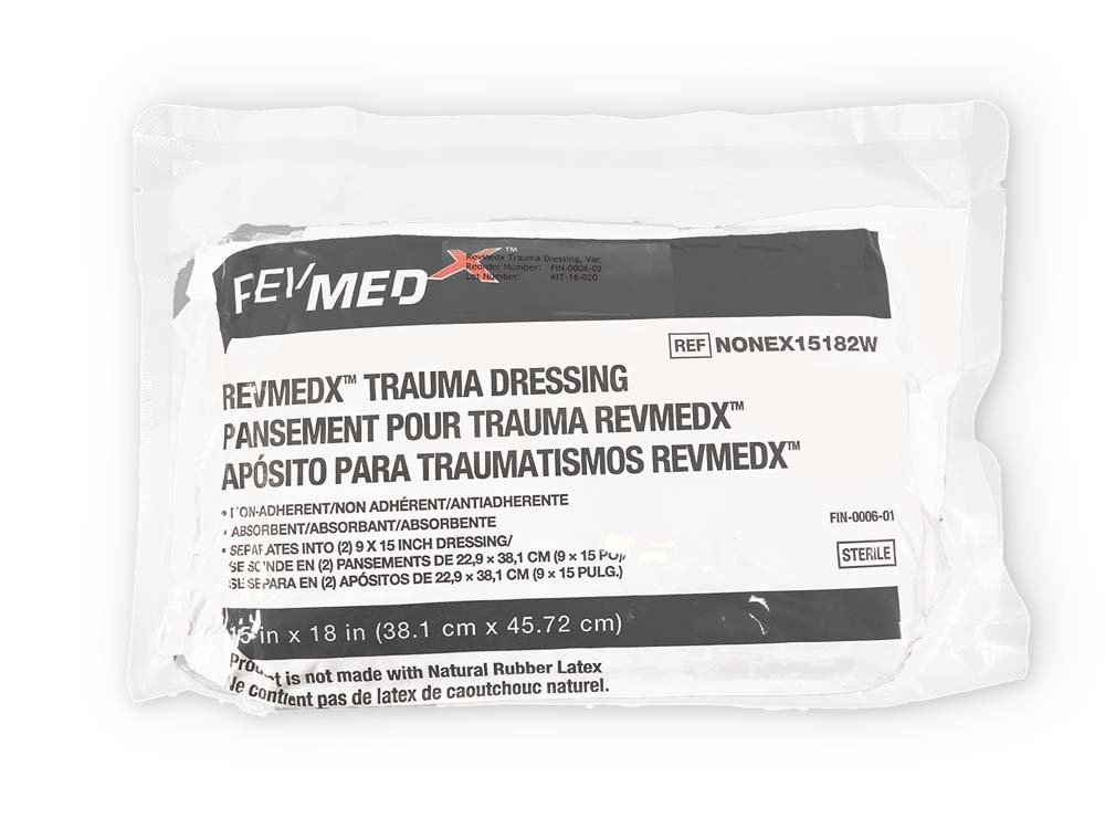 RevMedx™ Trauma Dressing (RTD™), Vacuumed Sealed