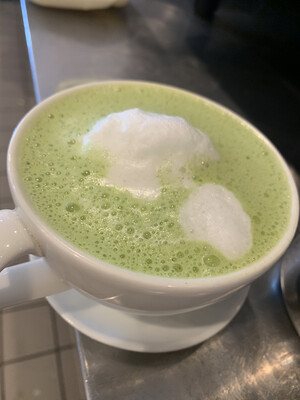 Macha Green Tea Latte (Vegan)