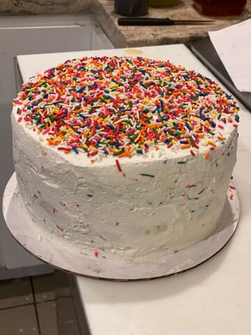 Funfetti Cake With Birthday Cake Cookie Dough Center