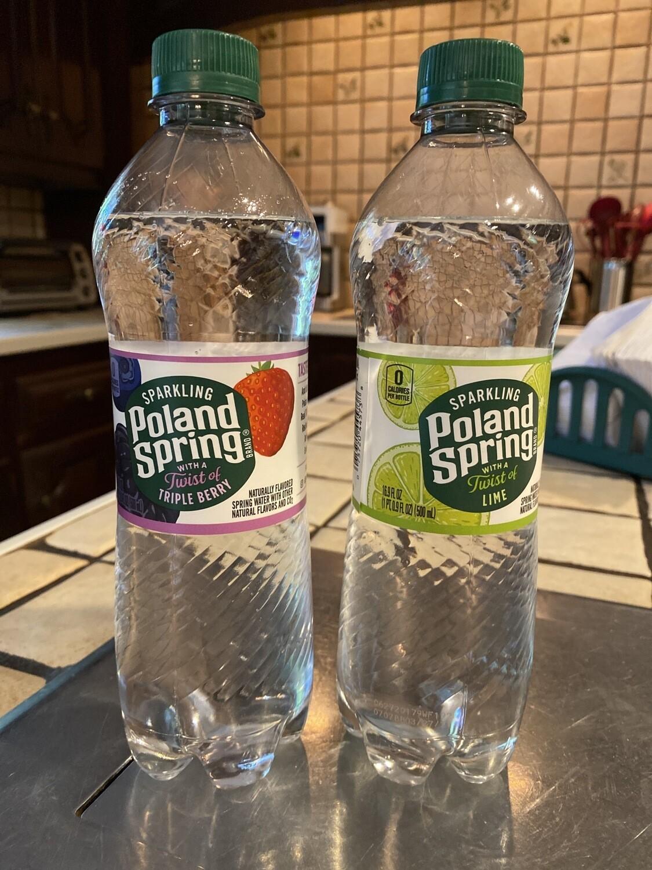 Bottle Of Poland Spring Club Soda