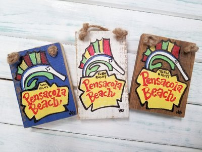 "2.75"" x 4"" Pensacola Beach Ornament"