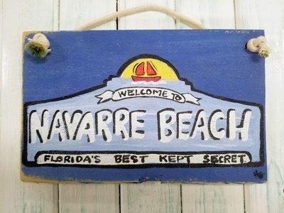 "5"" x 9"" Navarre Beach Sign"