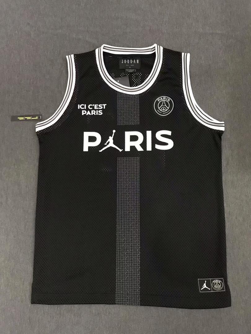 Official Paris x Jordan Black Mesh Tank Top (Authentic Version)