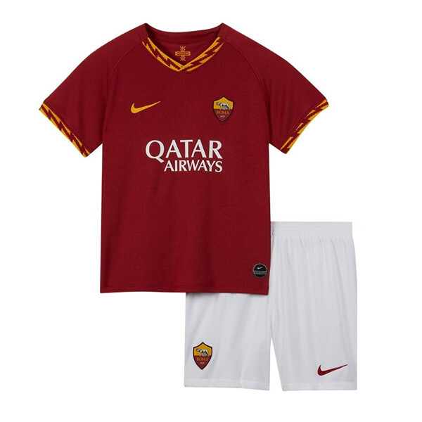 Nike AS Roma Official Home Soccer Jersey Kids Kit 19/20