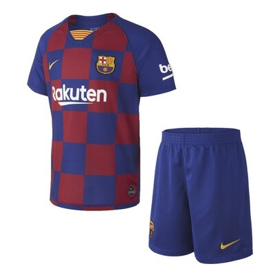 Nike Barcelona Official Home Soccer Jersey Kids Kit 19/20