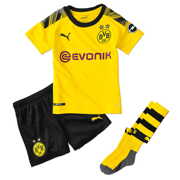 Puma Borussia Dortmund Official Home Soccer Jersey Kids Full Kit 19/20