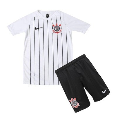Nike Corinthians Official Home Soccer Jersey Kids Kit 19/20