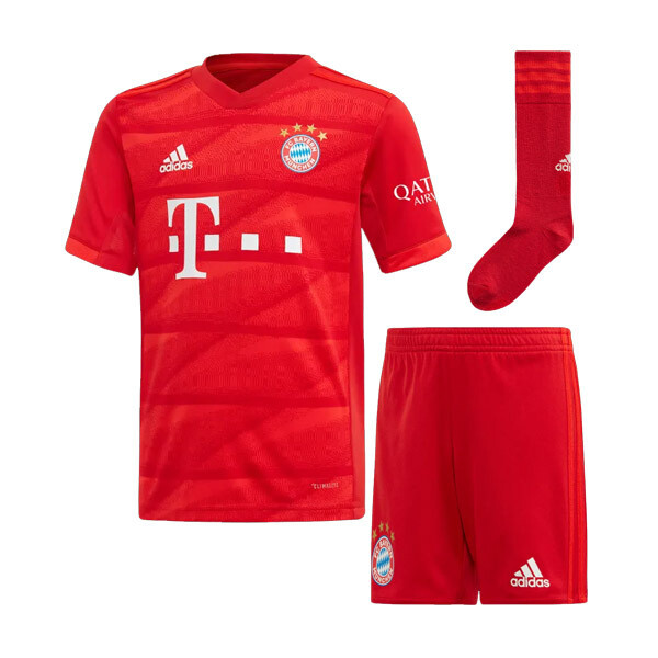 Adidas Bayern Munich Official Home Soccer Jersey Full Kids Kit 19/20
