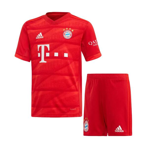Adidas Bayern Munich Official Home Soccer Jersey Kids Kit 19/20