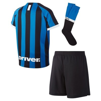 Nike Inter Milan Official Home Soccer Jersey Full Kids Kit 19/20