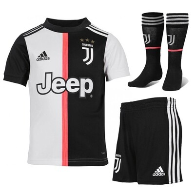 Adidas Juventus Official Home Soccer Jersey Full Kids Kit 19/20