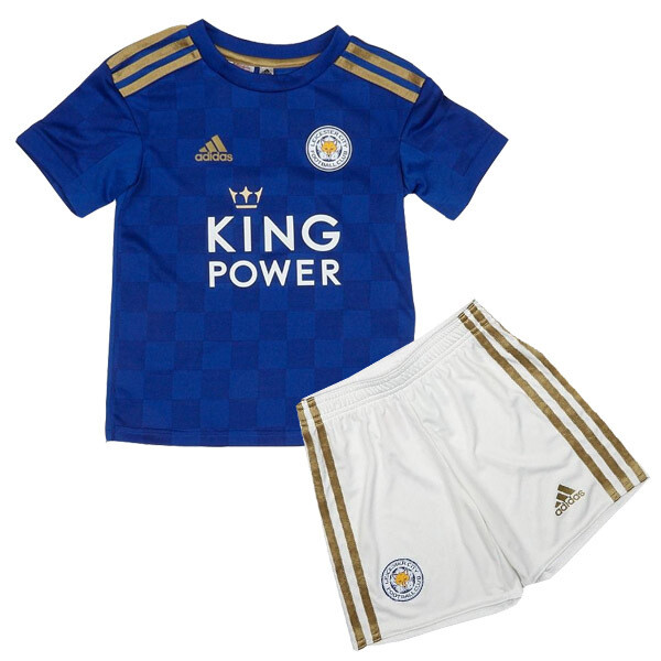 Adidas Leicester City Official Home Soccer Jersey Kids Kit 19/20