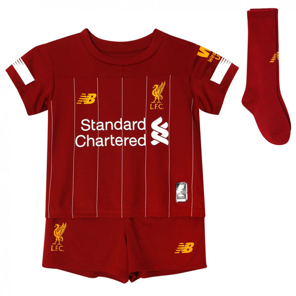 New Balance Liverpool Official Home Soccer Jersey Full Kids Kit 19/20