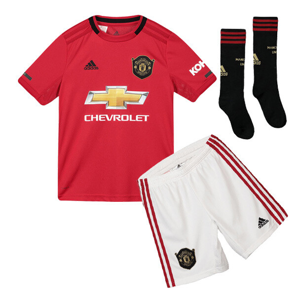 Adidas Manchester United Official Home Soccer Jersey Full Kids Kit 19/20