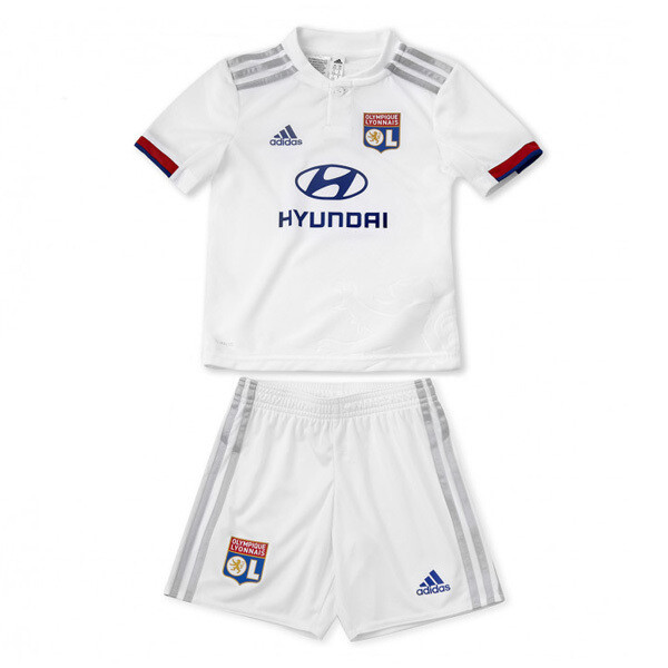 Adidas Olympique Lyon Official Home Soccer Jersey Kids Full Kit 19/20