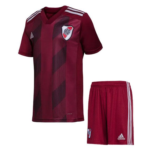 Adidas River Plate  Official Alternative Red Soccer Jersey Kids Kit 19/20