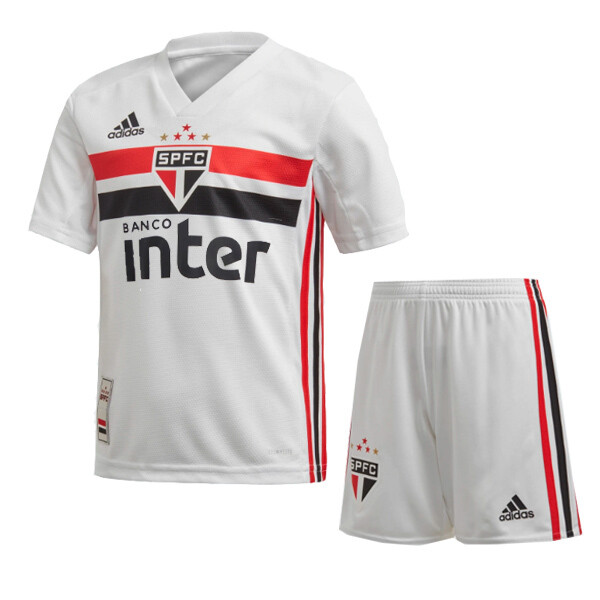 Adidas Official Sao Paulo Home Soccer Jersey Kids Kit 19/20
