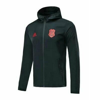 Adidas  CR Flamengo Black Hoodie Windbreaker 19/20