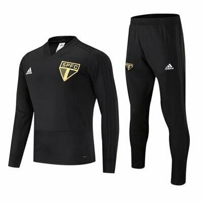 Adidas Sao Paulo FC Black Tracksuit 19/20