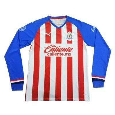 Puma Chivas Guadalajara Home Long Sleeve Soccer Jersey Shirt 19/20