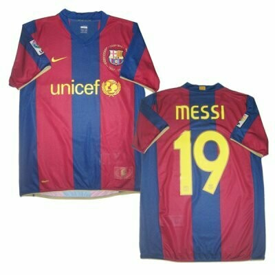 2007-2008 MESSI FC Barcelona Retro Jersey Shirt #19 (Replica)