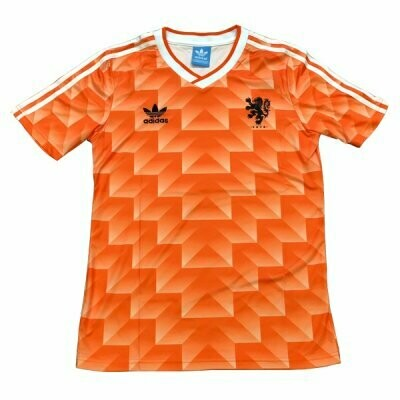 1988 Holland Home Soccer Jersey (Replica)