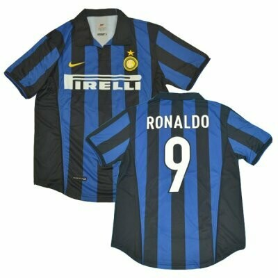 1998-1999 Ronaldo Inter Milan Retro Jersey Shirt #9 (Replica)
