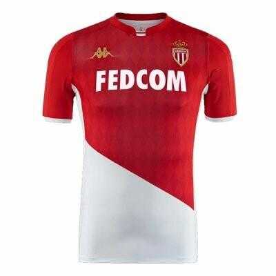 Kappa AS Monaco Home Jersey Shirt 19/20