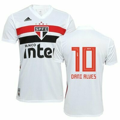 Adidas Sao Paulo FC Official DANI ALVES Home Soccer Jersey Shirt 19/20 #10