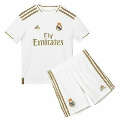 Adidas Real Madrid Official Home Soccer Jersey Kids Kit 19/20