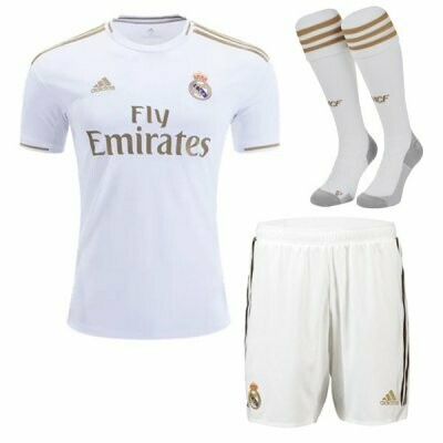 Adidas Real Madrid Home Soccer Jersey Adult Uniform Full Kit 19/20