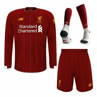New Balance Official Liverpool Home Soccer Jersey Adult Full  Uniform Kit 19/20