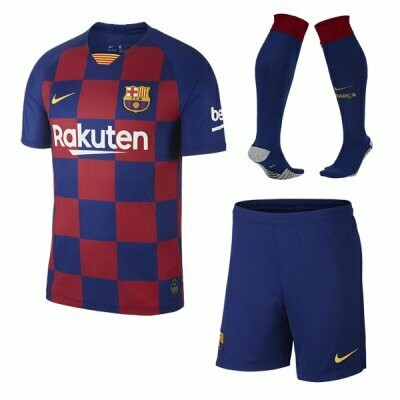 Nike Barcelona Official  Home Soccer Jersey Adult Full Uniform Kit 19/20