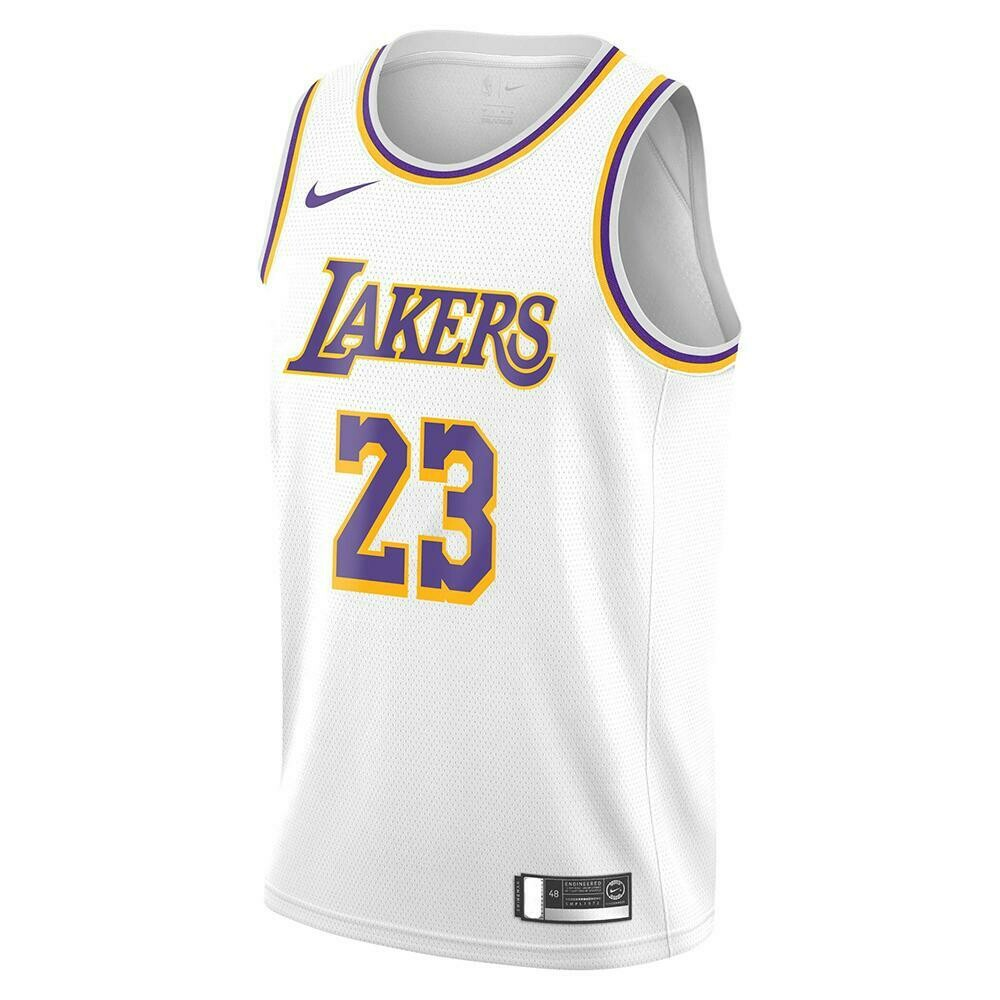 Nike Lebron James Los Angeles Lakers Swingman Jersey - Association Edition - White