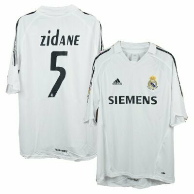 Real Madrid Home Zidane #5 Jersey 2005-06