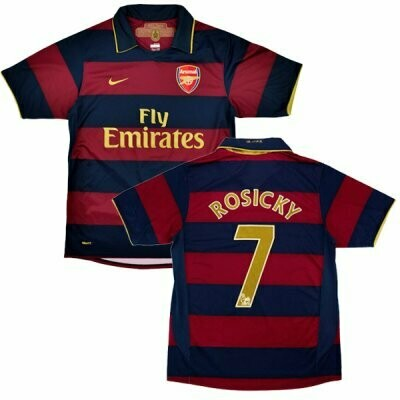 Arsenal Home  #7 Rosicky Retro Jersey 2007-08 (Replica)