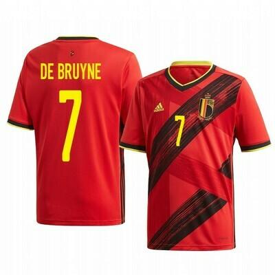 Adidas  De Bruyne Belgium Official Home Jersey 2020