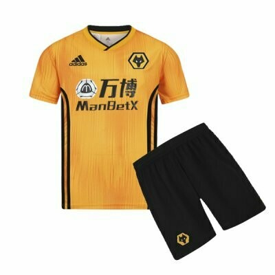 Adidas Wolves Official Home Soccer Jersey Kids Kit 19/20