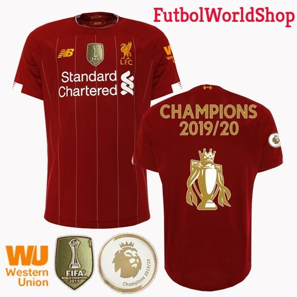 New Balance  Liverpool  EPL Champions Home Jersey with Cup Logo 19/20