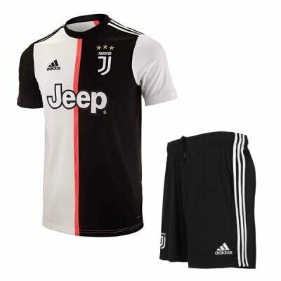 19-20 Juventus Home Soccer Jersey Men Kit(Shirt+Short)