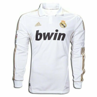 2011-12 Real Madrid Home Long Sleeve Retro Jersey