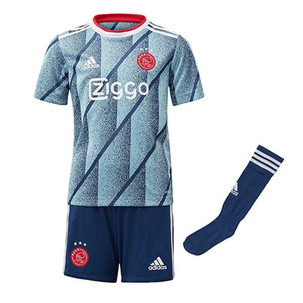 20-21 Ajax Away Soccer Jersey Kids Full Kit