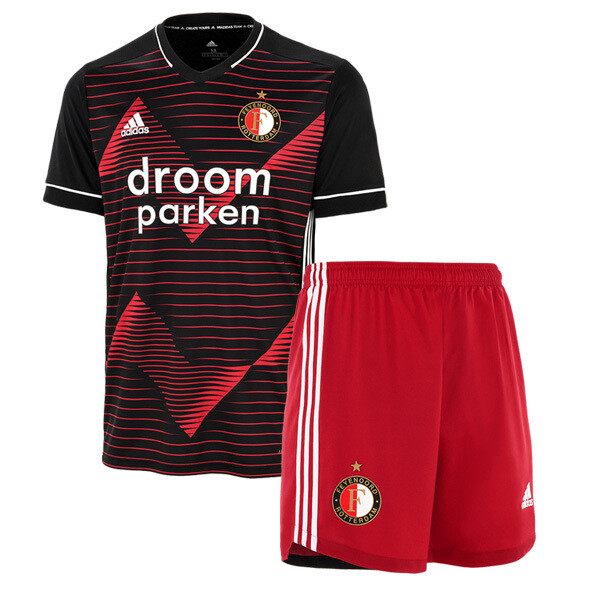 Adidas Feyenoord  Away Black Soccer Jersey Kids Kit 20/21