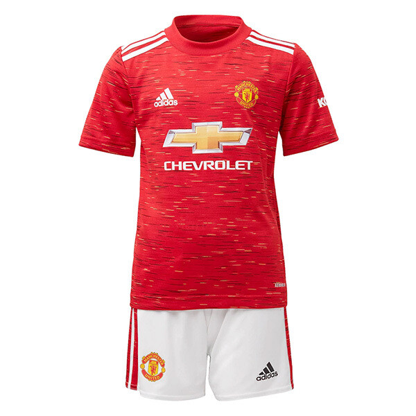 Adidas Manchester United Home Soccer Jersey Kids Kit 20/21