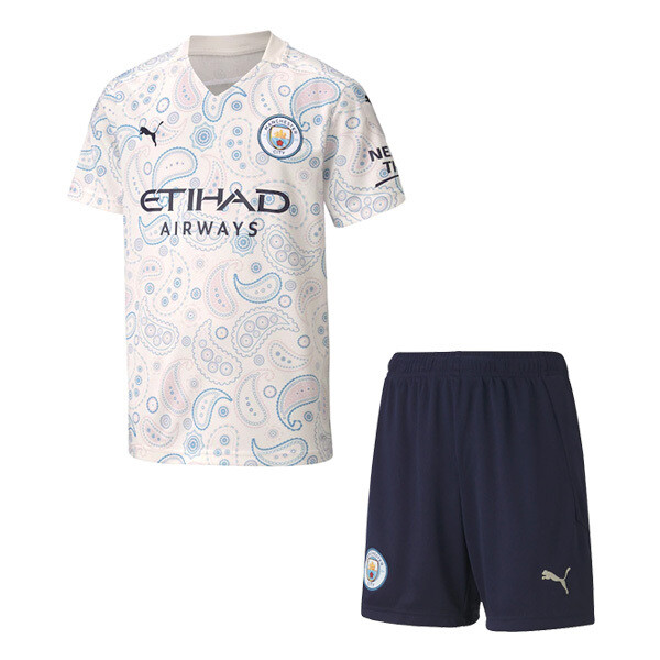 Manchester City Third Soccer Jersey Kids Kit 20/21