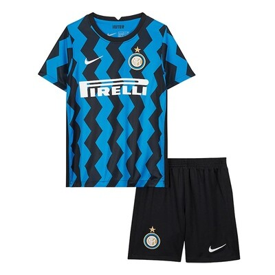 Nike Inter Milan Home Soccer Jersey Kids Kit 20/21