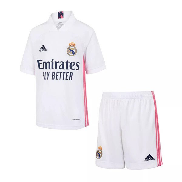 Adidas Real Madrid Home Soccer Jersey Kids Kit 20/21