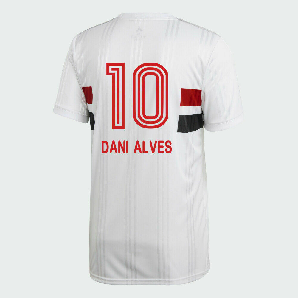 Adidas Sao Paulo FC Official DANI ALVES Home Soccer Jersey Shirt 20/21 #10