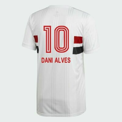 Adidas Sao Paulo FC Official DANI ALVES Home Soccer Jersey Shirt 20/21 #10