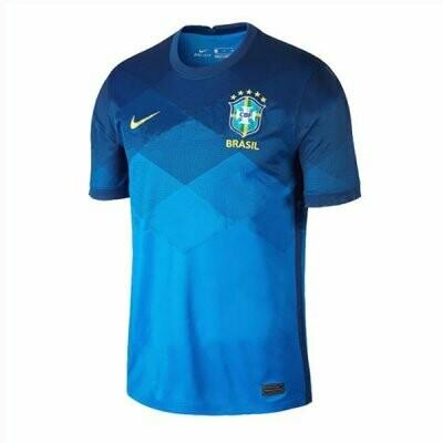 Brazil Away Blue Soccer Jersey Shirt 2020